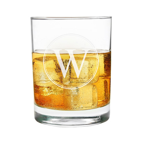 Circle+Initial+Highball+Glass