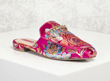 Brocade Floral Loafer Mules-9