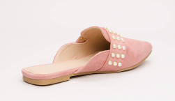 Embellished Story Faux Pearl Mule Flats-3